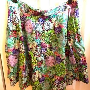 Retrolicious Succulent Skirt